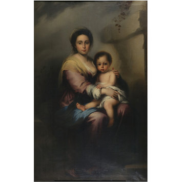 Oil painting - The Virgin and Child, after Bartolomé Esteban Murillo
