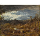 Landscape: driving cattle (Oil painting)