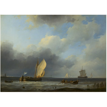 Oil painting - Sea piece: a threatening sky