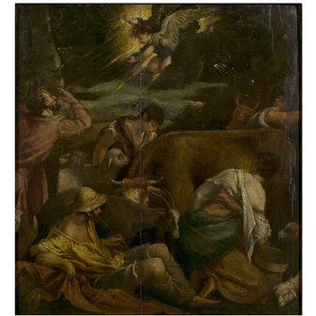 Oil painting - The Annunciation to the Shepherds