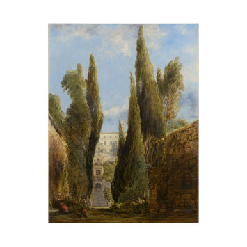 Oil painting - The Villa d'Este, Tivoli