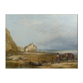 Oil painting - Hall Sands, Devonshire