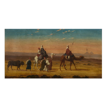 Oil painting - A Caravan in the desert
