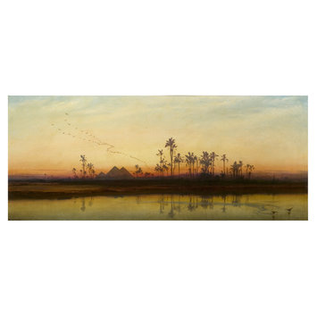 Oil painting - Sunset on the Nile
