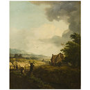 Landscape with an inn (Oil painting)