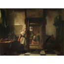 The Listening Servant (Oil painting)
