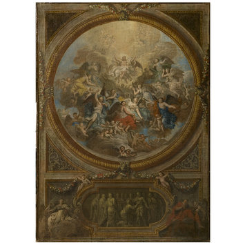 Oil painting - The Ascension and the Incredulity of St Thomas (sketch for the decoration of the chapel at Chatsworth)