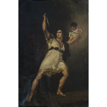 Painting - John Philip Kemble as Rolla in Pizarro adapted by Richard Brinsley Sheridan from Die Spanier in Peru by August Friedrich Ferdinand von Kotzebue