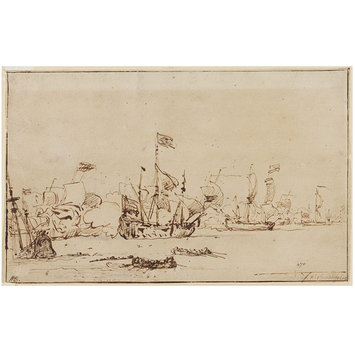 Drawing - Naval Engagement