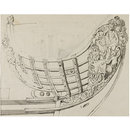Design for the prow of a ship (Drawing)