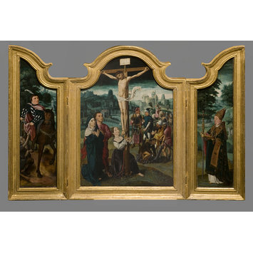 Oil painting - The Crucifixion with Mary Magdalen at the foot of the cross