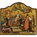 Allegorical Figures: Britannia Enthroned, surrounded by Concord, Learning and Religion overcoming Vice (panel from Royal State Coach for George I) (Panel)