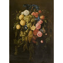 Fruit and flowers (Oil painting)