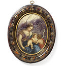 Virgin and Child; The Virgin and Child and St John (Miniature and frame)
