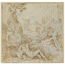 Actaeon Surprising Diana and her Nymphs (Drawing)