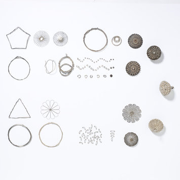 Elements of a filigree button