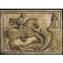 Saint George and the Dragon with two armorial reliefs (Relief)