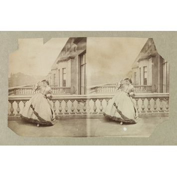 Photograph - Isabella Grace Maude on terrace, 5 Princes Gardens; Photographic Study