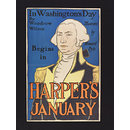 Harper's January - in Washington's Day (Poster)