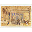 Interior of a Turkish Caffinet, Constantinople; Interior of a Turkish Coffee House, Constantinople (Watercolour)
