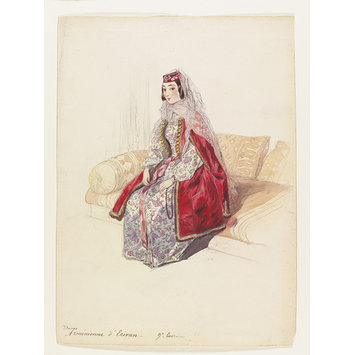 Watercolour - Dame Armnienne dErivan; Armenian lady from Yerevan