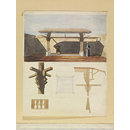 Fountain for Ablution in Cortile of Mosque of Mourad Bey (Watercolour)