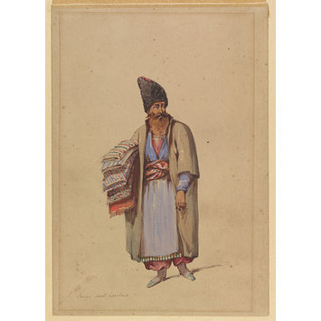 Watercolour - Persian Shawl-Merchant
