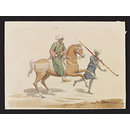 A Mounted Mamluk with his Sais [Groom] (Watercolour)