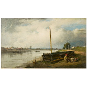 Oil painting - The Thames from Millbank