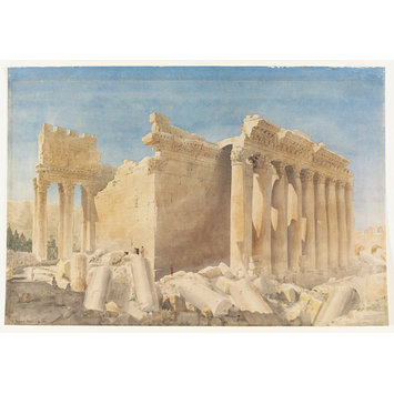 Watercolour - Temple of Bacchus, Baalbek