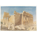 Temple of Bacchus, Baalbek (Watercolour)