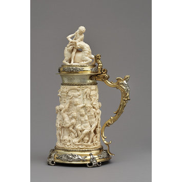Tankard - Tankard with Silenus and bacchic revels