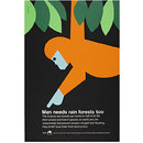 Man needs rain forests too (Poster)