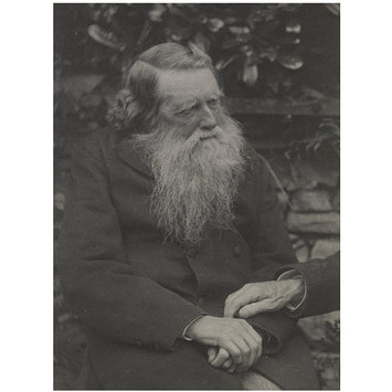 Photograph - John Ruskin; Portraits of many persons of note photographed by Frederick Hollyer