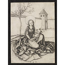 The Madonna and Child in the Courtyard (Print)