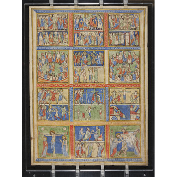 Manuscript - Leaf from a Psalter (Eadwine Psalter) with scenes from the New Testament