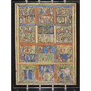 Leaf from a Psalter (Eadwine Psalter) with scenes from the New Testament (Manuscript)
