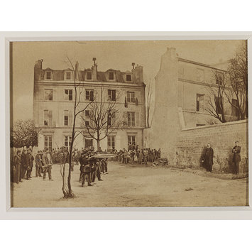 Photograph - Crimes de la Commune; Faked photograph of execution by firing squad