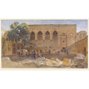 El Mahkemeh or Court of the Cadi Cairo; Bayt al Qadi: Maqad of Amir Mamay; House of the Kadi (Watercolour)