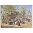Egyptian Village Scene (Watercolour)