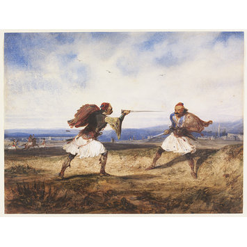 Watercolour - Albanian duel
