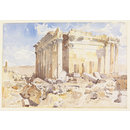 The Temple of Bacchus, Baalbek (Watercolour)