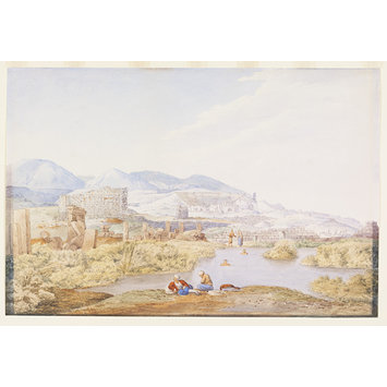 Watercolour - Hierapolis - Natural Hot Spring. Phrygia