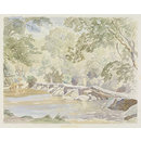 Tarr Steps, Exmoor; Recording Britain (Watercolour)