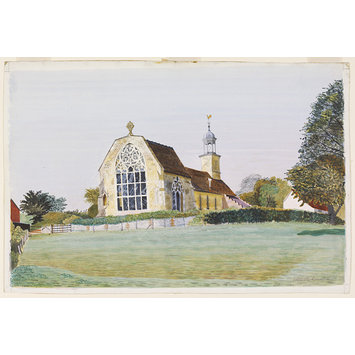 Watercolour - St. Mary's Church, Tilty; Recording Britain Collection