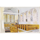 Interior of St. Mary's Church, Tilty; Recording Britain Collection (Watercolour)