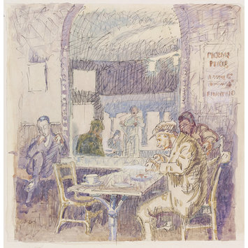 Watercolour - The Phoenix Eating House, Braintree; Recording Britain Collection
