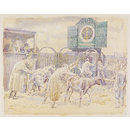 The Cattle Market, Braintree; Recording Britain Collection (Watercolour)