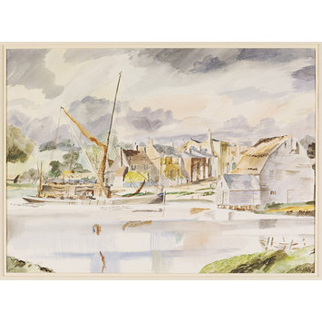 Watercolour - St Osyth's Quay; Recording Britain Collection