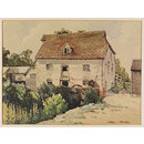 Mill House at Tilty, Essex; Recording Britain Collection (Watercolour)